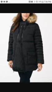 Black Thyme Maternity winter coat with panel
