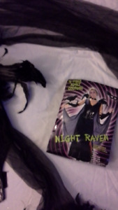 adult night raven costume. women's size 4 to 14.