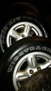 SNOW TIRES AND WHEELS INSTAL AND BALANCE $14