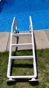 Above Ground Pool Stairs Ladder Échelle Escaliers Pour Piscine H
