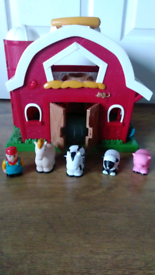 Big red barn House farm toy