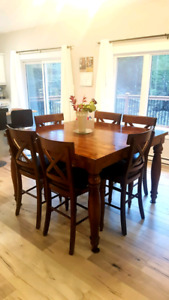 7pc Kitchen Table and Chairs (solid wood)
