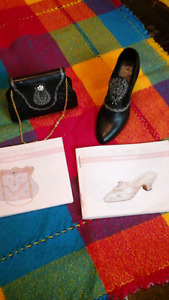 Decorative minature resin shoe and purse by Nostalgia and books