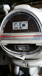 60`s Evinrude 40hp 2str s shaft outboard motor project or parts.
