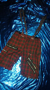 Shorts - W/straps Red/Green NEW
