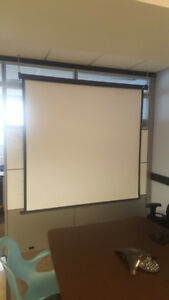 Hanging projector screen | Office protection screen
