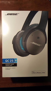 SEALED Bose QuietComfort 25 Acoustic Noise Cancelling headphones