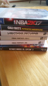 Assorted video games PS3/PS4