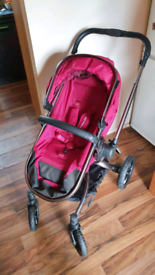 Orb all terrain stroller/carrycot, car seat and isofix base