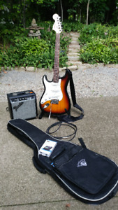 Left Handed Squire Stratocaster by Fender