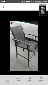 4 canvas patio tall chairs