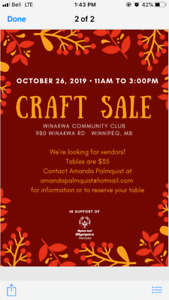 Craft sale vendors