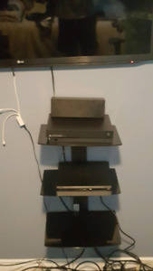 Wall mounted component shelving unit