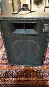 Two Peavy PA Speakers