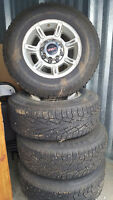 265/70/R17 WINTER RIMS & TIRES STUDDED 10 PLY
