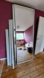 4 ceiling to floor mirror wardrobe doors and rails