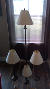 Set of living room lamps