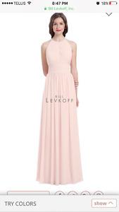 Blue Bill Levkoff Bridesmaides Dress