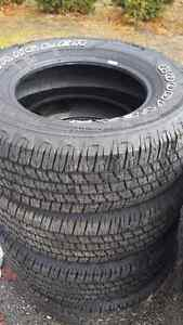 Tires 255/70R17 Goodyear Wranglers New off of a 2016 Ford F150