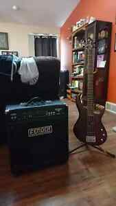Bass guitar and 75W amp