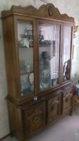 China Cabinet, Dinning room Table, & Chairs