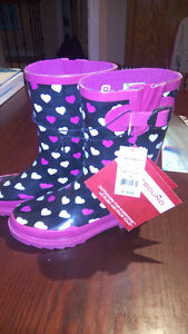 2 pairs of girl's Rubber Boots for sale        size 2 and size 3
