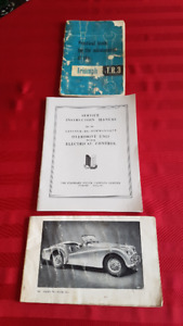 car literature vintage cars FoMOCo, MB, TR3, Olds,  1950-1970s