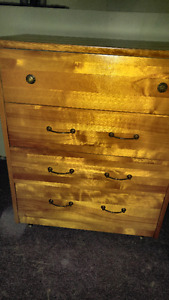 Newly Refinished Four Drawer Dresser