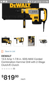 DEWALT 1- 7/ MAX COMBINATION HAMMER DRILL