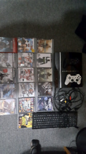 Ps3/ 2 controllers/ keyboard/ 16 games