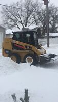 SNOW CLEARING WITH SKID STEER- BOOKING FOR WEDNESDAY