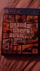 Gta 5 for the ps4 ($40 Firm)