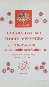 Canada Day Themed Spinners / Cambridge