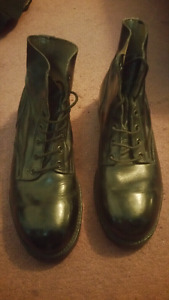 Military dress ankle boots
