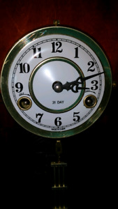 SMALL CABINET STYLE. 31. DAY. DOUBLE WIND WALL CLOCK..50.00 for sale  Saint John
