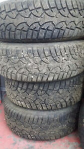 4 Winter Tires With Steel Rims - 215 / 60 R16 (Used for Altima)