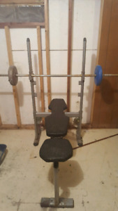 workout bench used