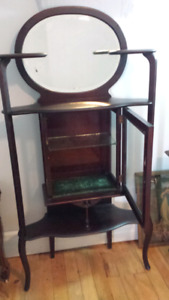 China cabinet . Antique display cabinet