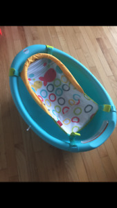 Fisher price bathtub with two cups.