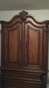 Beautiful Wooden Armoire/TV unit