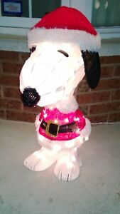 Large Snoopy Christmas Lighted Outdoor Decoration