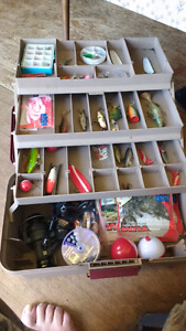 Tackle box and tackle for sale