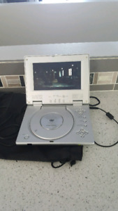 "7"" portable DVD player, works great."