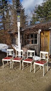 4 Antique Harp Chairs