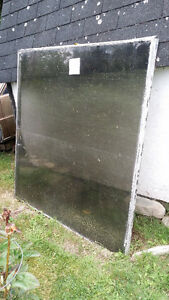 Free Two Large thermopane window glass perfect for greenhouse