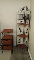 Wicker corner unit and shelf unit