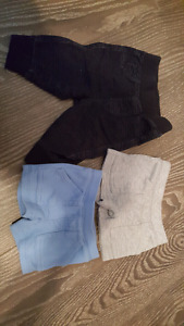 2 NB shorts and one jeggings 0-3 month