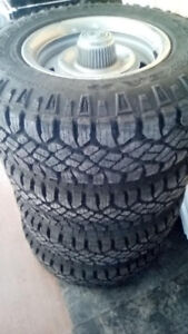vision 55 rally rims with Goodyear wrangler snow tires