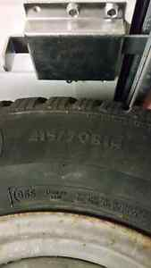 Studded Winter Tires 215/70R14 on 5 bolt Ford rims Prince George British Columbia image 3