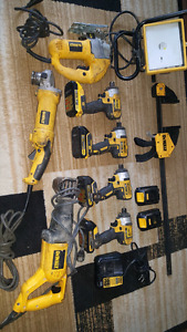 DEWALT TOOLS LOT ... $600 TAKES ALL
